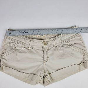 American Eagle Outfitters White Denim Short Stretc